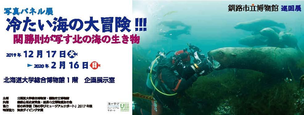【釧路市立博物館 巡回展】写真パネル展 冷たい海の大冒険!!! 関 勝則が写す北の海の生き物
